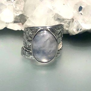 MOONSTONE SILVER RING ANTIQUE